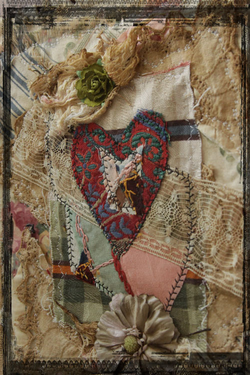 Heart fabric collage 72 dpi